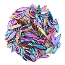 Iridescent Petal Ceramic Mosaic for Flower Design