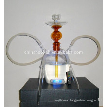 GH064-LT all glass chicha hookah /nargile/water pipe/with led light/sheesha/narguile