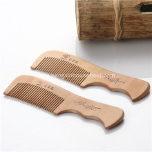 100%Nature Peach Wooden Combs With Handle