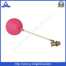 Válvula de bola del flotador con la bola plástica roja (YD-3015)