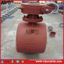 Butt Welded Bw End Triple Eccentric Butterfly Valve