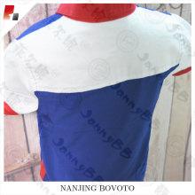 Junge Popeline Kontrast-Kragen T-Shir