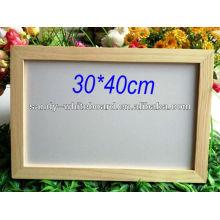 Panneau blanc magnétique OEM avec panneau d'écriture en bois à effacer à sec