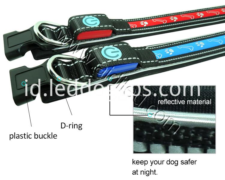 dog collar led flashing