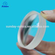 Lentilles convexes sphériques planes en cristal de CaF2 optiques 25.4mm