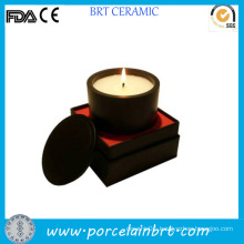 Fashion Round Black Ceramic Candle Jars