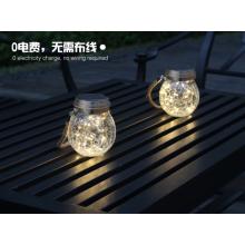 New LED solar wishing bottle hanging lamp glass crack lamp color optional