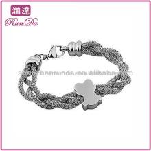 Großhandel 316L Edelstahl Armband Bären Mesh Armband Kette geflochten Armband Vners Hersteller