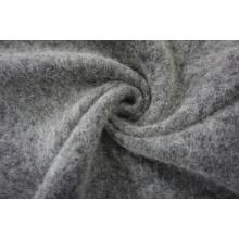 Tissu en laine double face noir et blanc