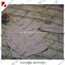 JannyBB boys long sleeve checked cotton shirt