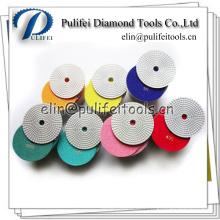 Utilisation mouillée ou sèche sur des outils de meulage de l'eau Tampon de polissage flexible de diamant