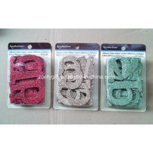 Adhesive Glitter Alfabeto / Die-Cut Glitter Cartas Scrapbook Enfeite Decorativo