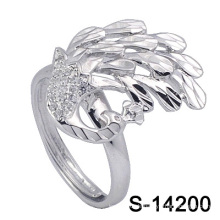 2016 neueste Mode Pfau Form Silber Schmuck Ring für Elegante Dame (S-14200)