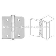 Dobradiça de porta dobrável de madeira reversível, Hardware