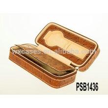 caixa de relógio de couro quente vender para 2 relógios fabricante de alta qualidade