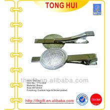Clips de lazo de metal baratos con logotipo personalizado grabado