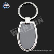 Zinklegierung keychain, Schlüsselring-Messinggussteile, ovales keychain