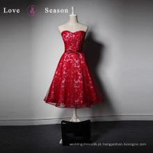 LSQ020 Imagem pornográfica vermelha em sexy la sposa últimos padrões de vestido de uma peça para roupas de festa roupas de noite