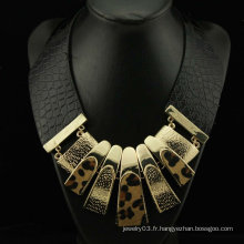 Vente en gros Pendentifs en forme de cuir de mode Leopard Leather 2012 FN92