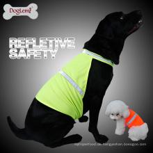 Hundehaustier-reflektierende Weste-Hundejagd-Sicherheitsweste-Jacken-hohe Visibility-Weste-Neonfarbe