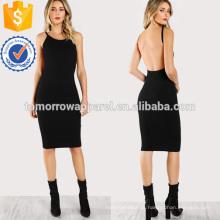 Low Back Pencil Dress Fabricação Atacado Moda Feminina Vestuário (TA3157D)
