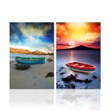 Arte da parede do barco de navigação na lona impressão das imagens do por do sol