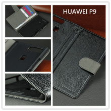 New PU leather phone case flip cove for huawei p9 with card slots