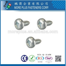 Made in Taiwan M1.7X7 Colored Zinc Phillips Drive Pan Head Small Size Self Tapping Screws