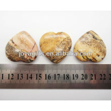 Natural picture jasper shape heart 35MM