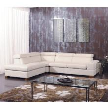 Sofá de cuero genuino de la sala de estar (825)