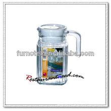 D097 500ml rayas jarra de vidrio