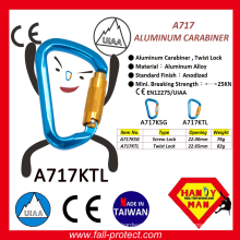 2017 The Most Safety Twist Lock Climbing Carabiner Made Of Aluminum Alloy