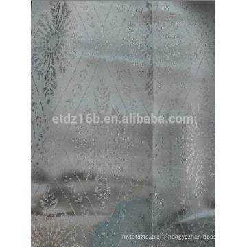 Nouvelle arrivée 100% polyester fil teinté tissu de jacquard design de fleurs pour fenêtre
