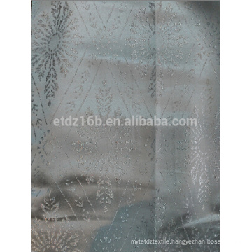 New arrival 100% Polyester Yarn dyed lozenge flower design Jacquard fabric for Window