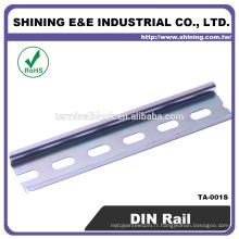 TA-001S Placage en zinc commun Montage Rail en acier galvanisé DIN