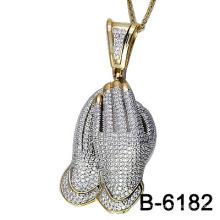 925 Silver Jewellery Micro Setting Pendant (S-6182)