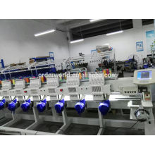 High-Speed-Industrie 6 Kopf flache T-Shirt Hut Computer Stickmaschine Preise