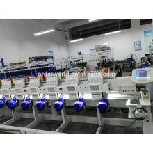 Machine à broder à plat 6 têtes en Chine avec contrôleur Dahao