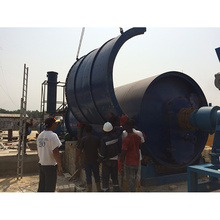 Environment protection waste tire pyrolysis recycling plant used waste textile recycling machine with CE.