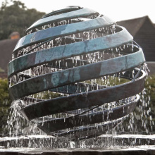 modern sculpture outdoor metal craft water fountain bronze sculpture for houses