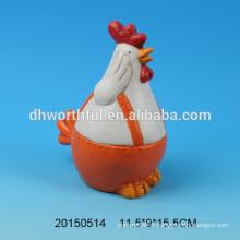Décoration en céramique série animale en forme de coq