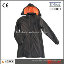 Women′s Waterproof 5000mm 3 Layer Softshell Jacket