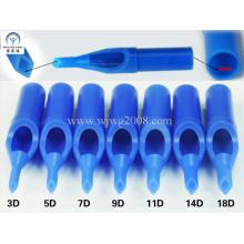 Einweg-Tattoo-Kunststoff Kurztipps - 50mm Blau D