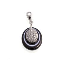 Серебряная ювелирная керамическая подвеска (P21000)