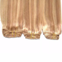 Piano color #27/613 Brazilian human hair silk straight weave blonde to lightest brown human hair extensions