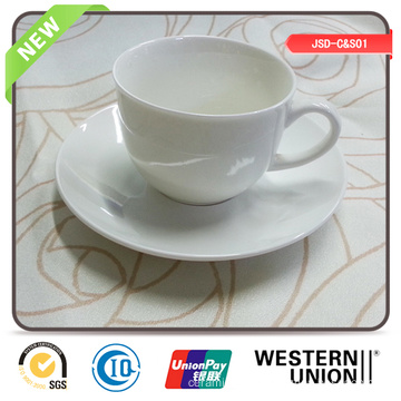 Plain Color New Bone Cup Saucer for Promotion