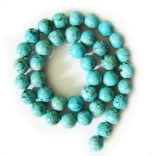 Perles rondes turquoise 9MM