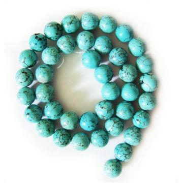 Perles rondes turquoise 10MM