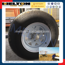 cheap wholesale tires 235/75R15 assemble steel wheel together