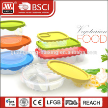 Round rectangular hard plastic meal packing box